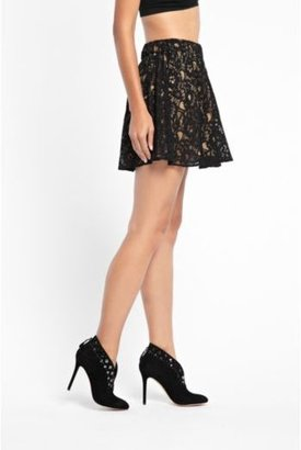 GUESS Floral Lace Circle Skirt