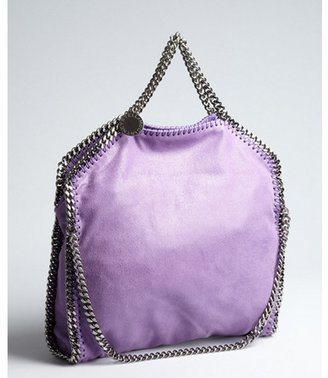Stella McCartney lilac faux suede and chain 'Falab' bag