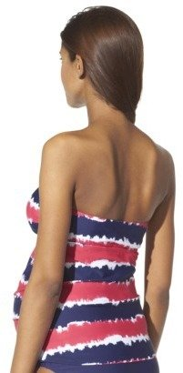Liz Lange for Target® Maternity Halter Tankini Swim Top - Coral/Navy Blue
