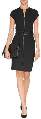 L'Agence LAgence Quilted Zip Front Dress in Black