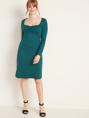Old Navy Ponte-Knit Ruched Sheath Dress for Women