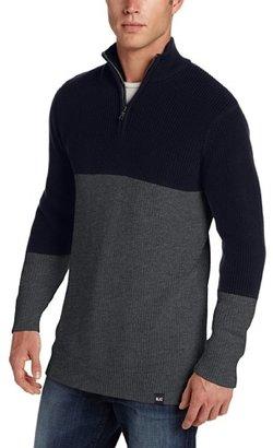 Nautica Men's Colorblock Quarter Zip Sweater
