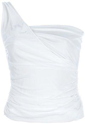 Ralph Lauren Blue Label asymmetric shoulder top