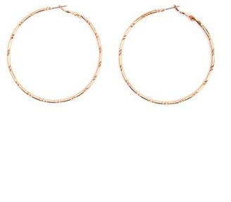 Charlotte Russe Hammered Hoop Earrings