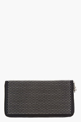 Alexander McQueen Black studded Leather Continental Zip City Wallet