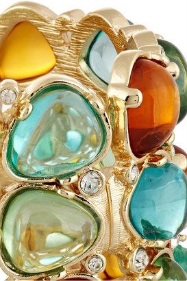 Kenneth Jay Lane Gold-tone, cabochon and crystal cuff