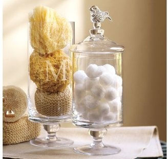 Pottery Barn Glass Bird Canisters