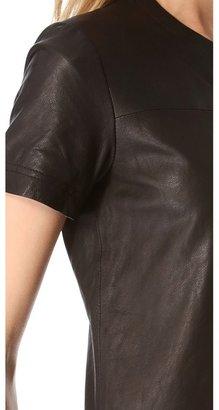 Theory Leather Eliora L Dress
