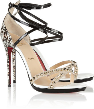 Christian Louboutin Monocronana 120 studded patent-leather sandals