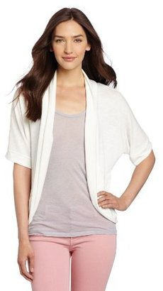 Amy Byer Women's Cozie Cover-Up Dolman Sleeve Textured Knit Top