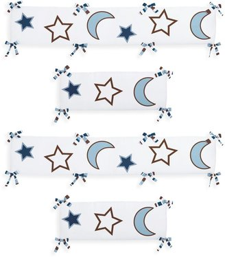 Sweet Jojo Designs Starry Night 4-Piece Crib Bumper Set