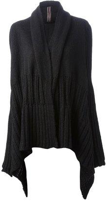 Rick Owens asymmetric knit cardigan