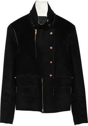 Alexander Wang Leather-lined wool-felt jacket
