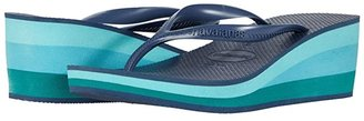 Havaianas High Fashion Flip Flops (Black) Women's Sandals
