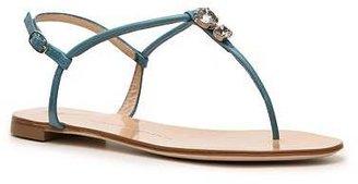 Giuseppe Zanotti Leather Flat Sandal