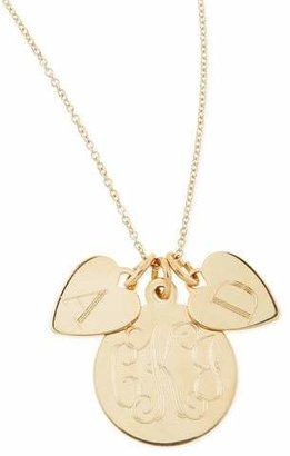 Sarah Chloe Sonya Layered Letter & Monogram Necklace, Gold $189 thestylecure.com