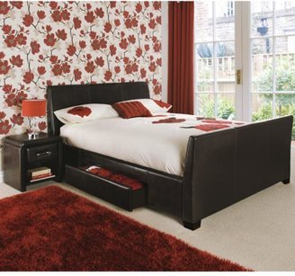 Shannon Faux Leather Storage Bed Frame