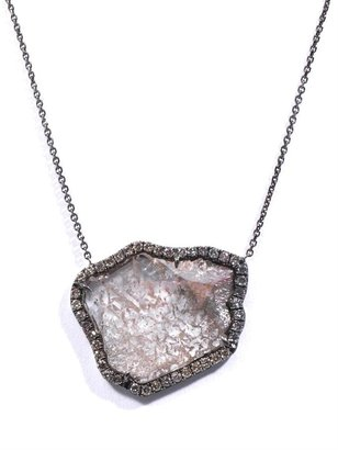 Susan Foster Diamond slice and blackened gold necklace
