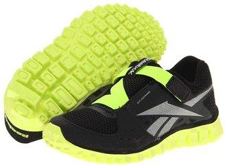 Reebok Kids - Mini Flex Transition 4 AC (Toddler) (Black/Neon Yellow/Silver) - Footwear