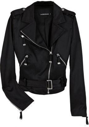 Anna Molinari Satin biker jacket
