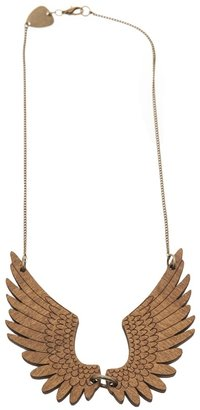 Tatty Devine Wood wing necklace