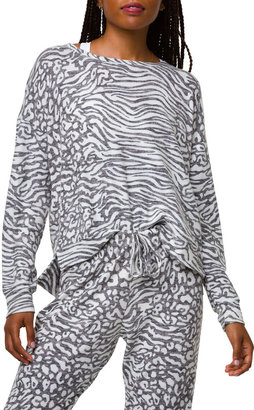 Onzie Lebra Printed High-Low Sweater
