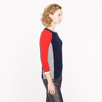 J.Crew Collection cashmere colorblock sweater