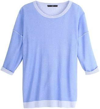 Tibi Reversible Plaited Sweater