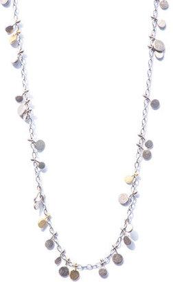 SIA Taylor Random Dot bi-colour gold necklace