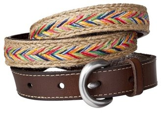 Mossimo Web Belt with Buckle Tabs - Multicolor