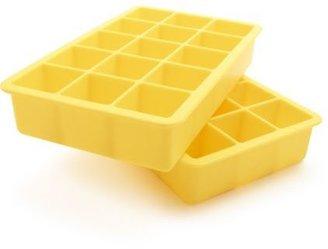 Tovolo Sunshine-Yellow Perfect Cube Ice Trays, Set of 2