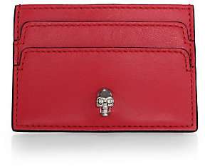 Alexander McQueen Skull-Detailed Leather Card Case