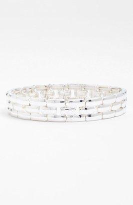 Anne Klein Lattice Link Stretch Bracelet