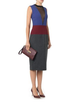 Barbara Casasola Colour-block sheer-panel dress