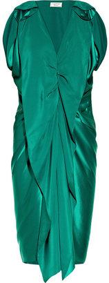Lanvin Draped washed-silk dress