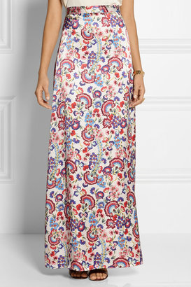 ALICE by Temperley Lou Lou floral-print satin maxi skirt