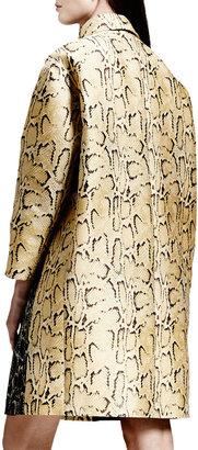 Stella McCartney Two-Tone Python Jacquard Coat