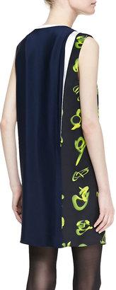 3.1 Phillip Lim Sleeveless Print-Paneled Shift Dress