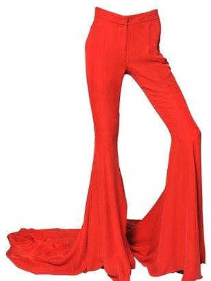 Gareth Pugh Silk Chiffon Long Train Trousers