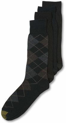 Gold Toe Men Socks, Dress Argyle 4 Pack