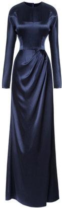 Prabal Gurung Silk-Satin Gown with Open Back