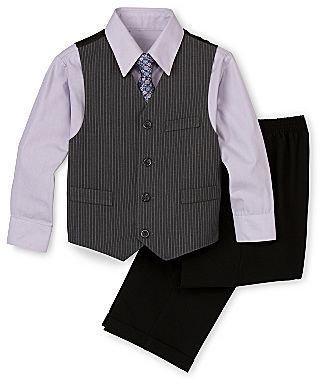JCPenney Rydal Striped Vest Set - Boys 12-24m