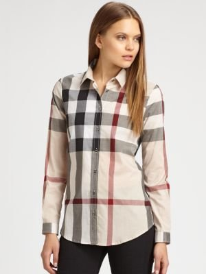 Burberry Cotton Check Blouse