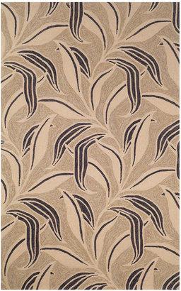 Liora Manne Round Area Rug, Indoor/Outdoor Promenade 1902/20 Leaf Neutral 8'