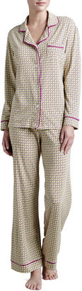 Cosabella Bella Geometric-Link Printed Pajamas