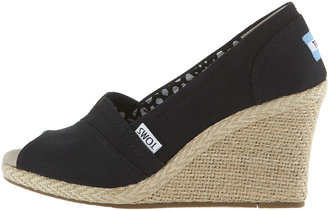 Toms Canvas Espadrille Wedge