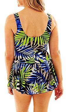 JCPenney Azul by Maxine of Hollywood® Ocean Dream Princess-Seam Swimdress
