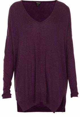 Topshop Knitted sheer solid jumper
