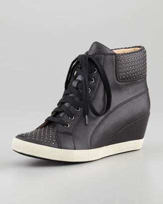 Splendid Helsinki Studded Wedge Sneaker, Black
