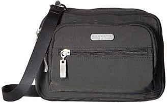 Baggallini Legacy Triple Zip Bagg (Charcoal) Cross Body Handbags